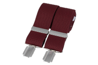 Dalaco BR-008 Plain Burgundy 33mm Silver Clip Braces